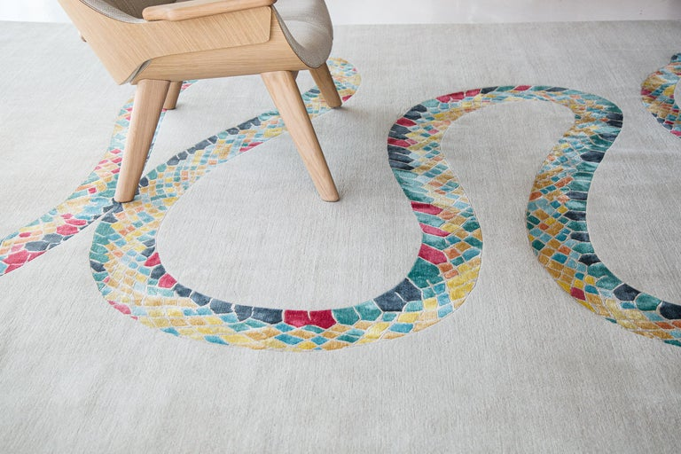 Year of the Snake by Liesel Plambeck, Modern Snake Rug For Sale 2