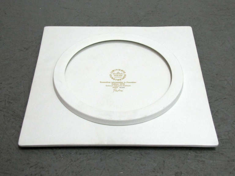 Late 20th Century Year Plate by Eduardo Paolozzi for Rosenthal, 1978 For Sale