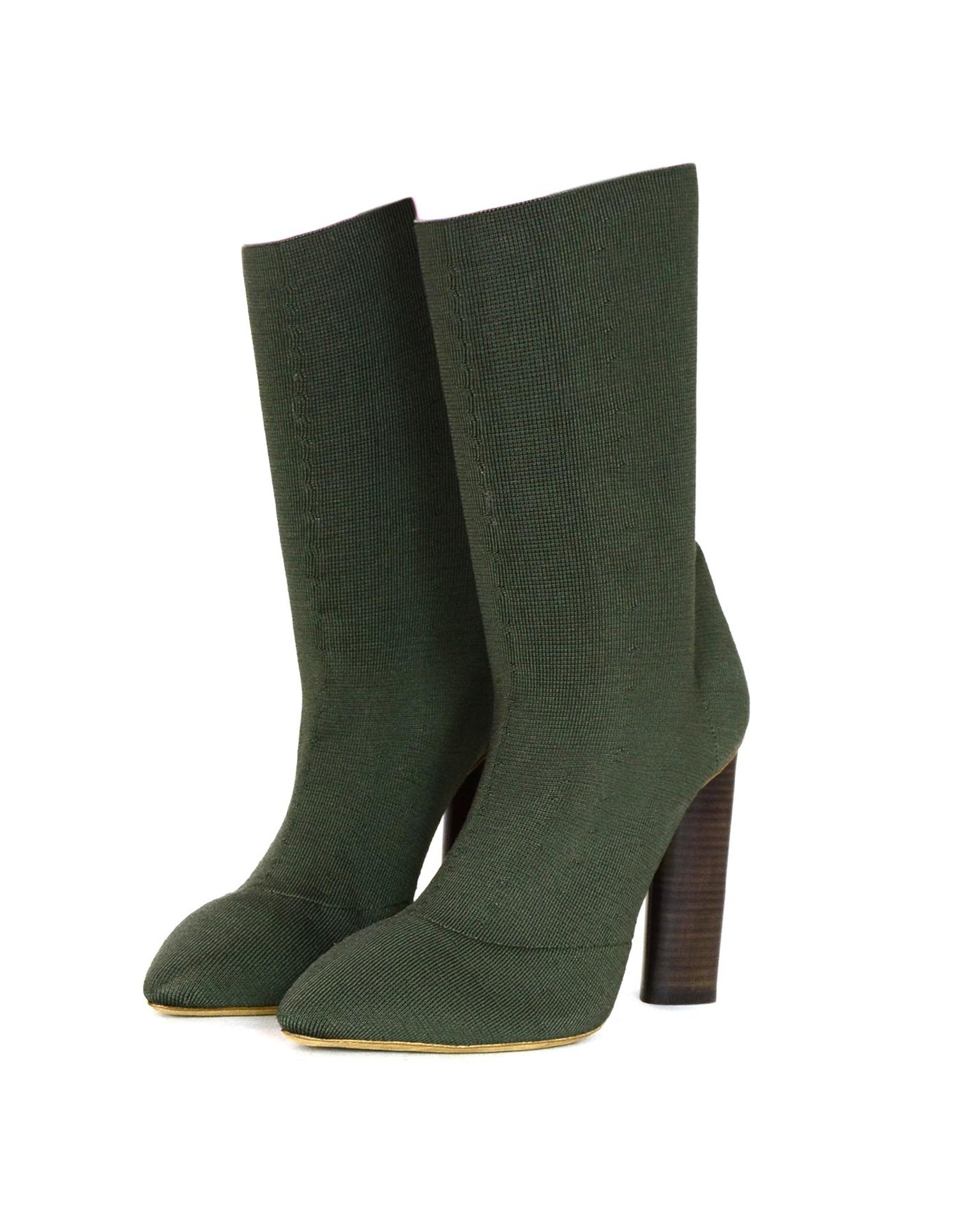 9bde6802fab8e Yeezy Season 2 Olive Green Sock Boots Sz 39.5 For Sale at 1stdibs