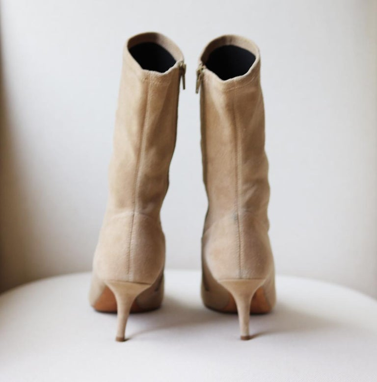 Yeezy Season 5 Stretch-Suede Ankle Boots In Excellent Condition For Sale In London, GB