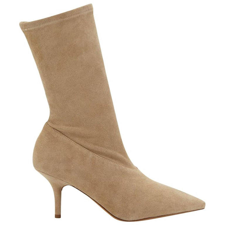 Yeezy Season 5 Stretch-Suede Ankle Boots For Sale