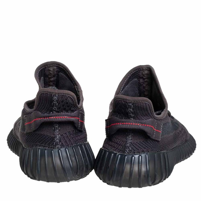 Yeezy x Adidas Black Knit Fabric Boost 350 V2 Sneakers Size 42 2/3 For Sale 2