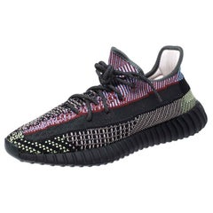 Yeezy x Adidas Multicolor Knit Fabric Boost 350 V2 Sneakers Size 45.5