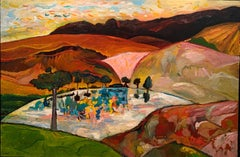 """Blue Sky,"" Contemporary, Landscape, Oil, Painting"