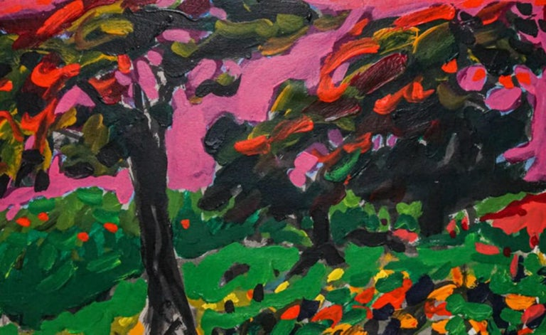 Unbelievable 1970's Post Impressionist Abstract Fauvist Landscape by Yehouda Leon Chaki (B 1936).  He is famous artist who currently works out of Montreal, and has built a worldwide name for himself.  Beautiful Brushstrokes and impressive colors of