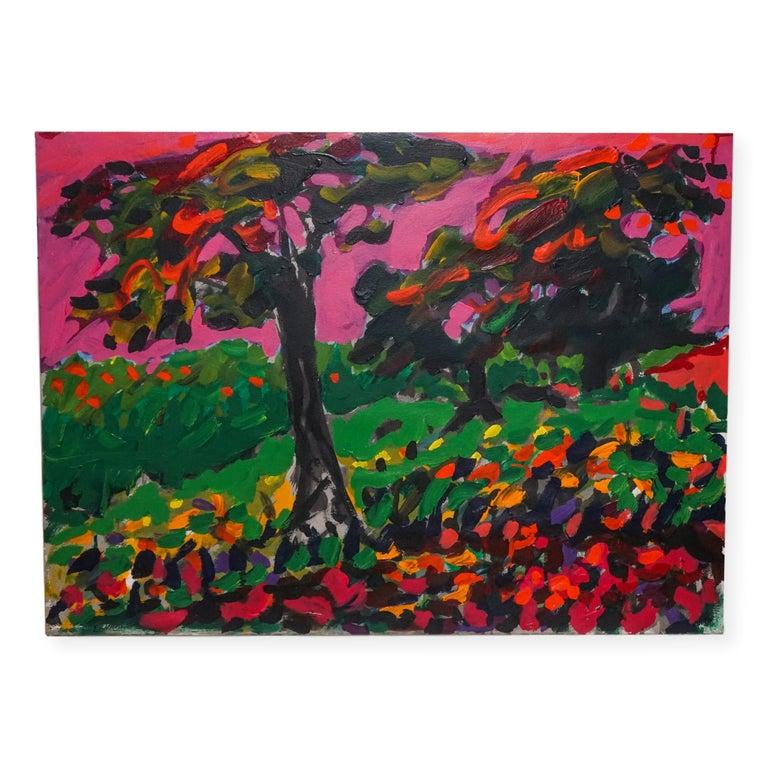 Yehouda Chaki Landscape Painting - Fauvist Post Impressionist French Canadian Landscape