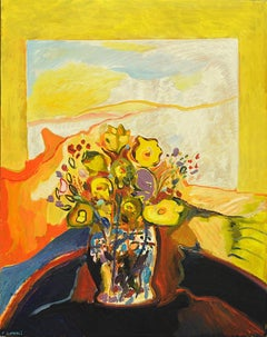 """Window 1464,"" Contemporary, Abstract, Still-Life, Flower, Painting"
