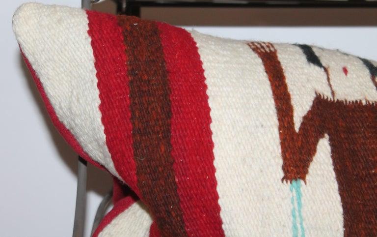 American Yei Navajo Indian Weaving Bolster Pillow For Sale