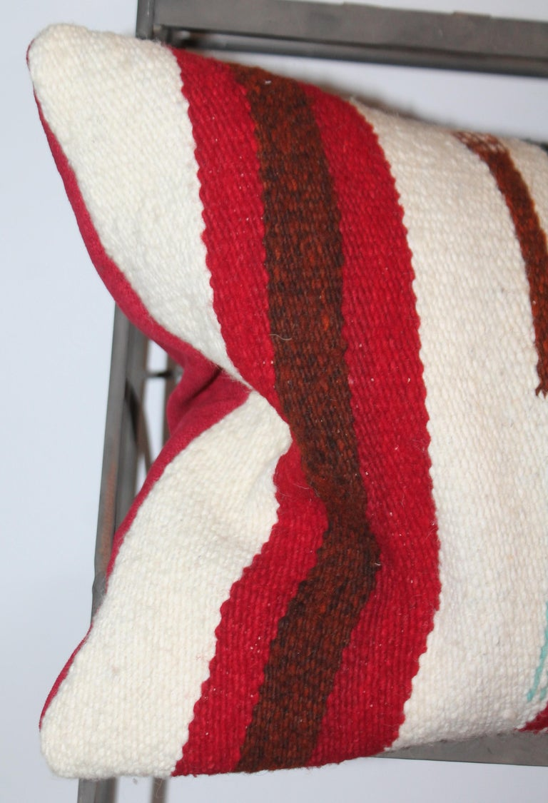 Hand-Woven Yei Navajo Indian Weaving Bolster Pillow For Sale
