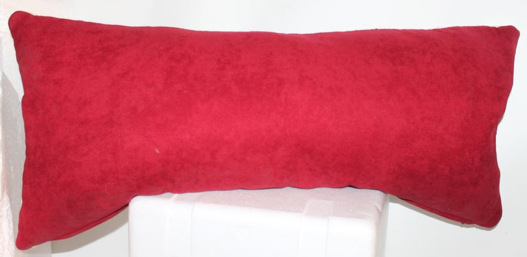 Yei Navajo Indian Weaving Bolster Pillow In Good Condition For Sale In Los Angeles, CA