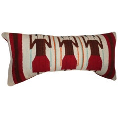 Yei Navajo Indian Weaving Bolster Pillow