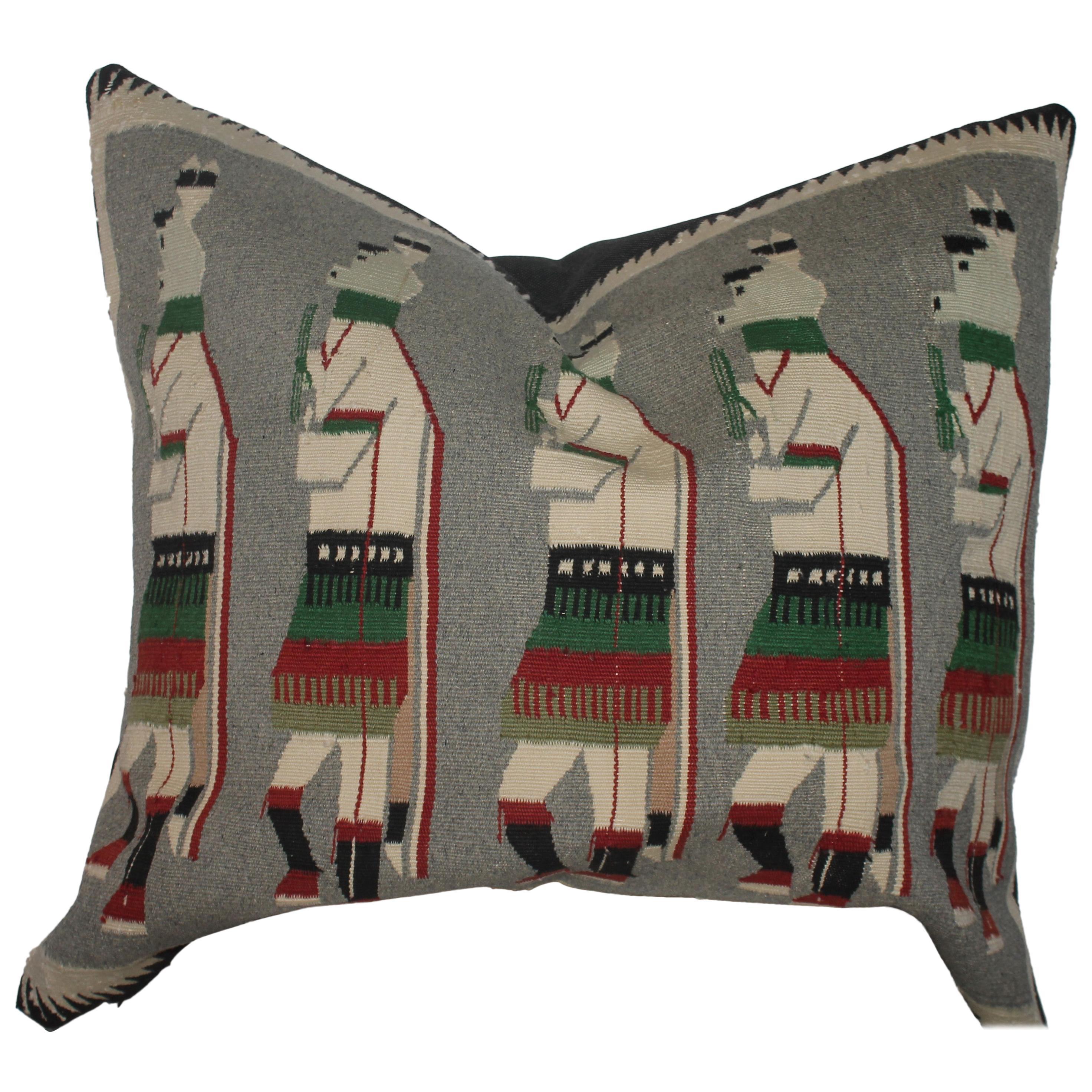 Yeibechei Navajo Indian Weaving Pillow