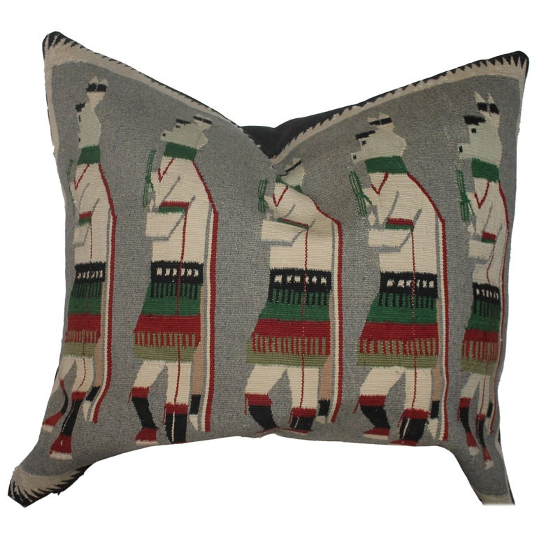 Yeibechei Navajo Indian Weaving Pillow For Sale