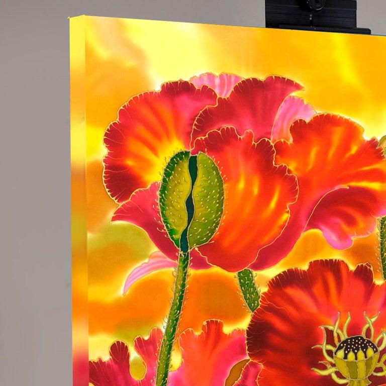Big Poppies - Contemporary Mixed Media Art by Yelena Sidorova