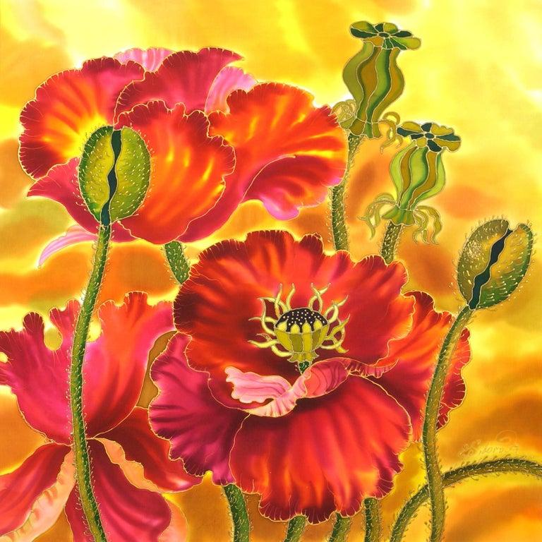 Big Poppies - Mixed Media Art by Yelena Sidorova