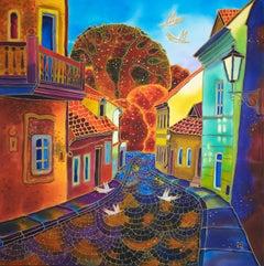Golden Street, Prague, Original Painting
