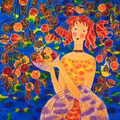 Persimmons Harvest, Original Painting