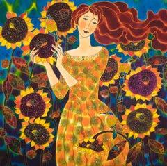 Sunflower Medley, Original Painting