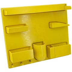 Yellow 1970s Organizer Wall All iii Uten.Silo Dorothee Maurer-Becker Pop Art Era
