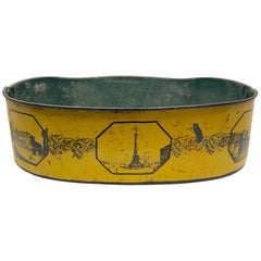 Yellow and Black Tole Planter