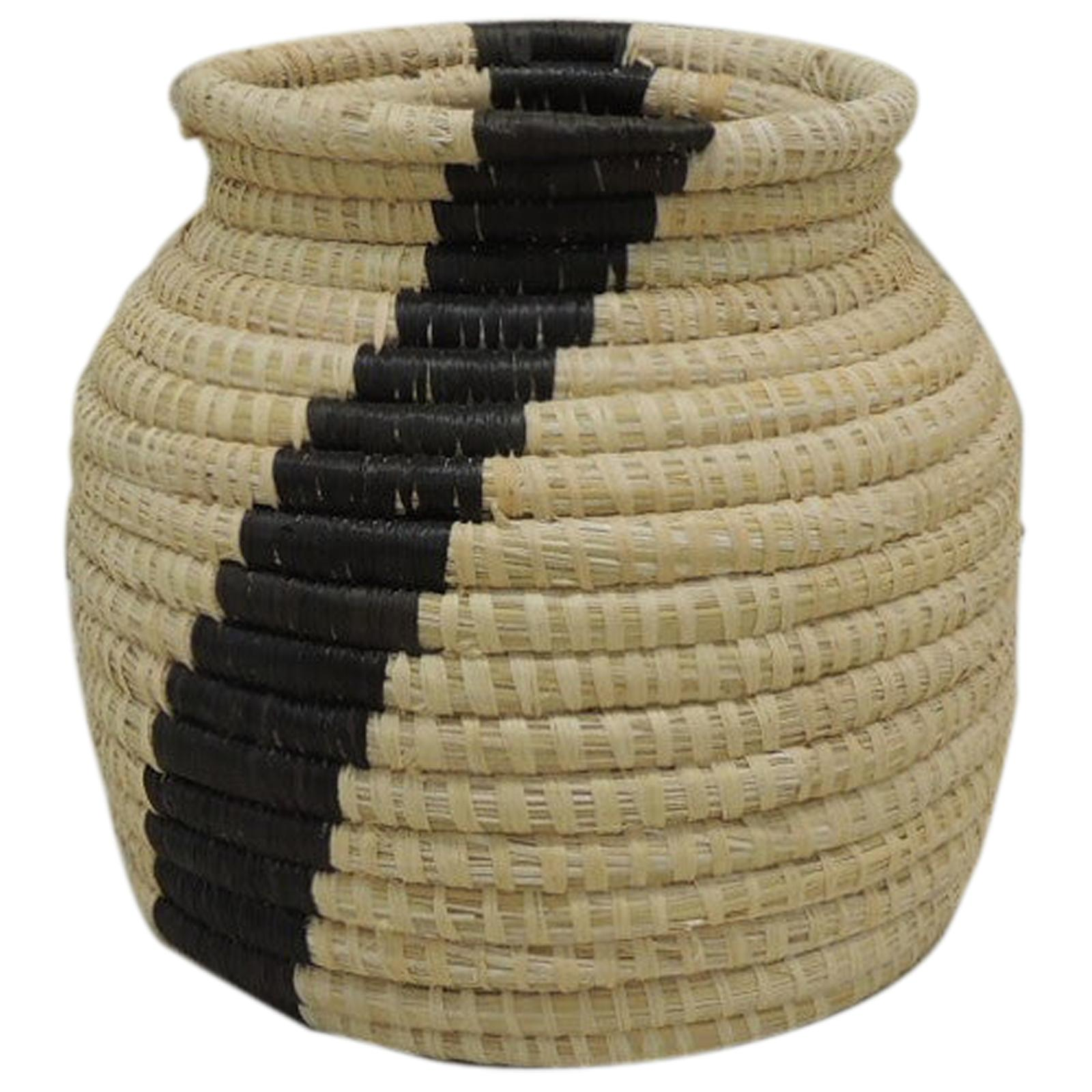 Yellow and Black Willow Basket