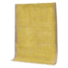 Yellow and Grey Stereo Rug in Moroccan Hand Knotted Berber Wool by Julie Richoz