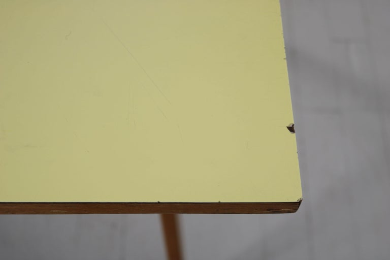 Yellow and Light Blue Italian Double Desk, 1950s For Sale 13