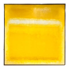 Yellow and White Color Field Abstract Painting