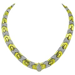 Yellow and White Gold Diamond Necklace