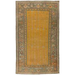 Yellow Antique Turkish Ghiordes Carpet