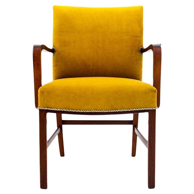 Yellow Armchair, Danish Design, 1960s