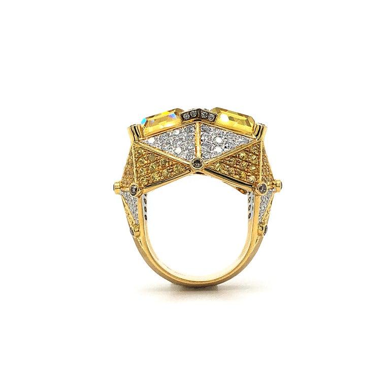 Contemporary Yellow Beryl and Diamonds