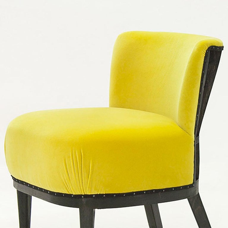 Spanish Yellow Black Chair For Sale