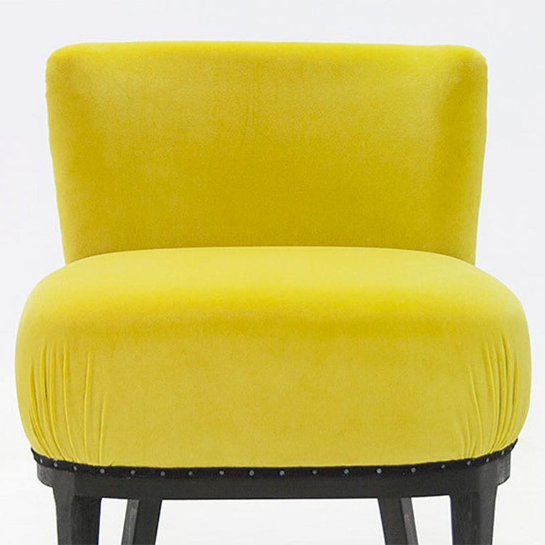 Hand-Crafted Yellow Black Chair For Sale