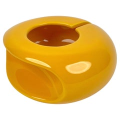 Yellow Ceramic Ashtray by Pino Spagnolo for Sicart, Italy, 1970s