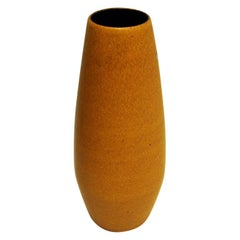 Yellow Ceramic Vintage Vase by Scheurich W. Germany, 1960s