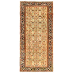 Yellow Color Background Antique Sultanabad Persian Rug. Size: 7 ft 3 in x 15 ft