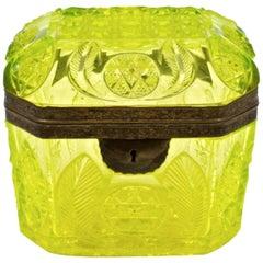 Yellow Cut Crystal Box