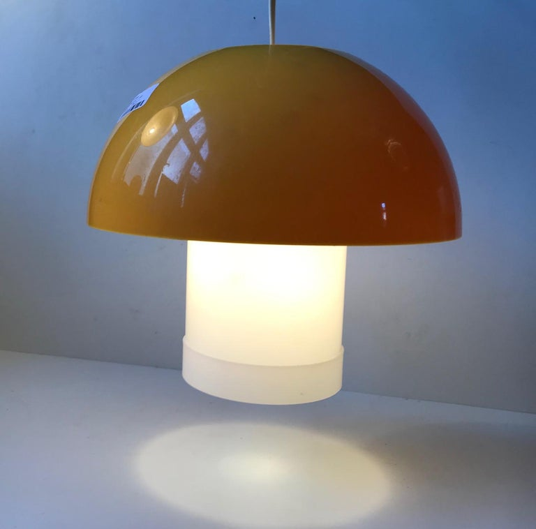 Yellow Danish Table- or Pendant Lamp by Bent Karlby for ASK Belysninger, 1970s For Sale 4