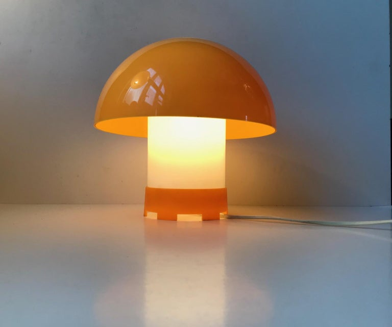 Yellow Danish Table- or Pendant Lamp by Bent Karlby for ASK Belysninger, 1970s For Sale 1