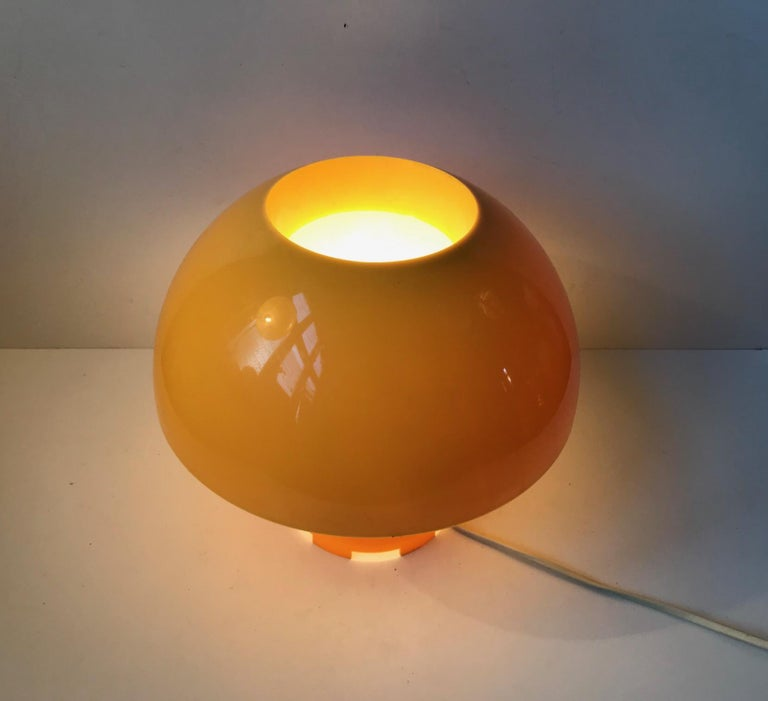 Yellow Danish Table- or Pendant Lamp by Bent Karlby for ASK Belysninger, 1970s For Sale 3