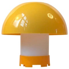 Yellow Danish Table or Pendant Lamp by Bent Karlby for ASK Belysninger, 1970s