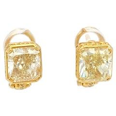 Yellow Diamond Bvlgari Earrings