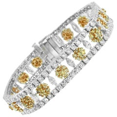 Yellow Diamond Flower Line Bracelet