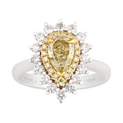 Yellow Diamond Ring, 1.02 Carats