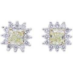 Yellow Diamond Studs Earring