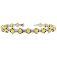 DAMIANI Yellow Diamond White Diamond Bracelet Yellow Gold White Gold, Italy