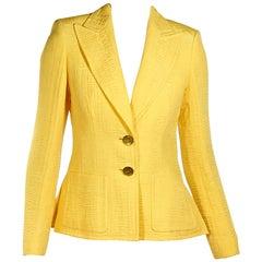 Yellow Escada Textured Summer Blazer