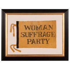 Yellow Felt Suffragette Flag, 1910-1920
