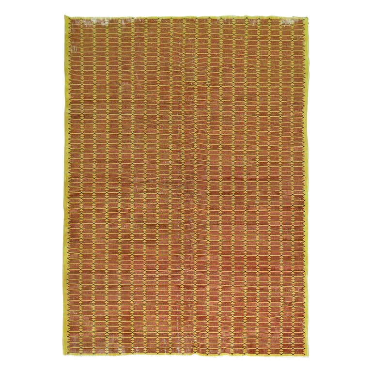 Yellow Field Turkish Deco Rug For Sale